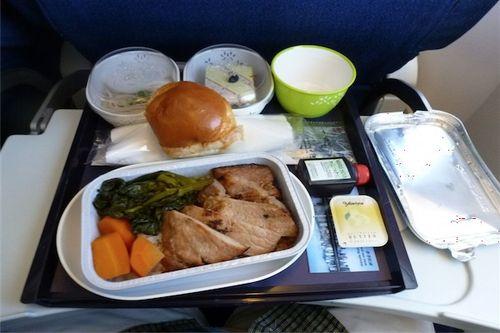 機内食(→香港)