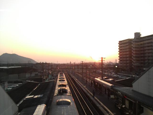 日の出と共に!