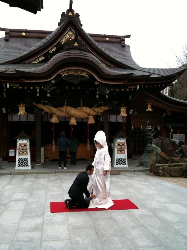櫛田神社&花嫁さん